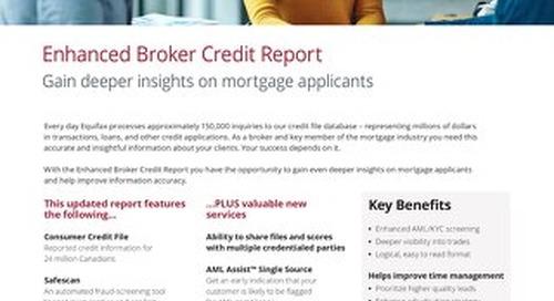 Enhanced Broker Credit Report