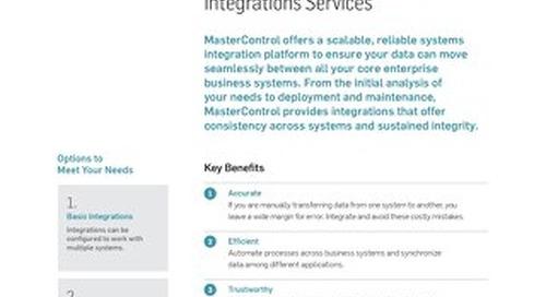 MasterControl Integration Services