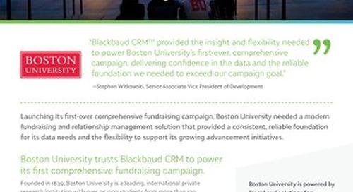 Boston University Customer Spotlight