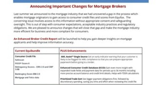Important Changes for Mortgage Brokers