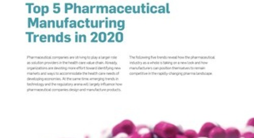 Top 5 Pharmaceutical Manufacturing Trends in 2020