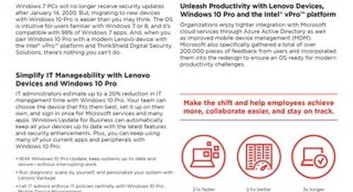 Make the Shift to Windows 10 Pro with Lenovo Devices and Intel® vPro™