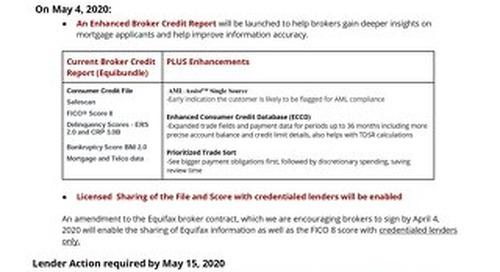 Lender Announcement