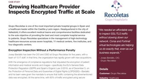 Growing Healthcare Provider Inspects Encrypted Traffic at Scale