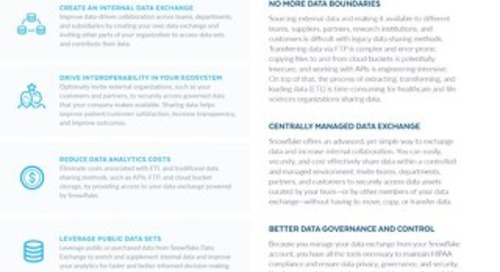 Snowflake Data Exchange for Healthcare and Life Sciences