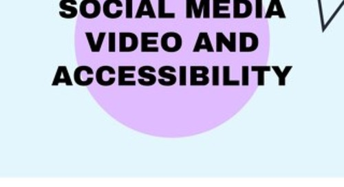 Social Media Video and Accessibility Ebook