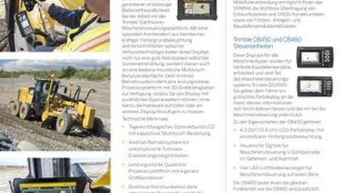 Trimble Grade Control Components Datasheet - German