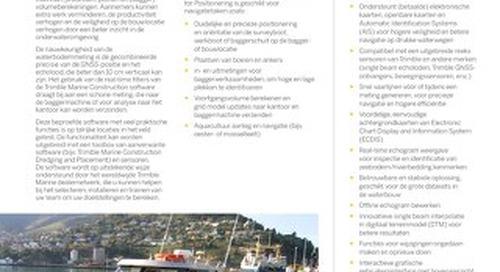 Trimble Marine Construction System for Positioning Datasheet - Dutch