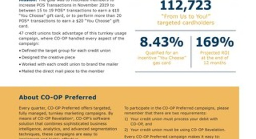 CO-OP Preferred 2019 Q4 Debit Campaign Results