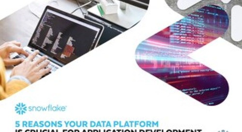 5 Reasons Your Data Platform is Crucial for Application Development