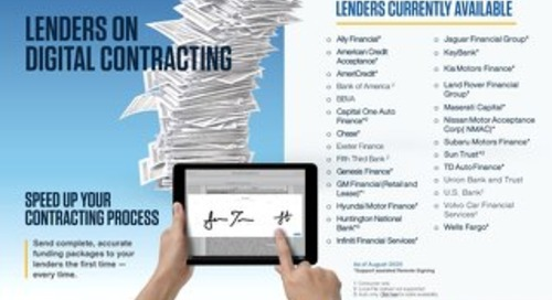 Digital Contracting Lender Availability