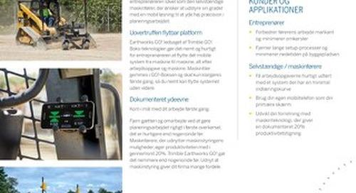 Trimble Earthworks GO! Datasheet - Danish