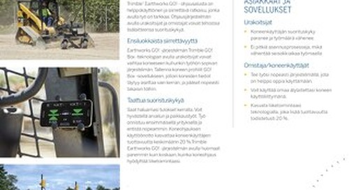 Trimble Earthworks GO Datasheet - Finnish
