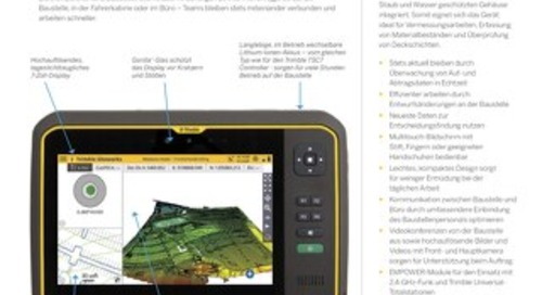 Trimble T7 Tablet Datasheet - German