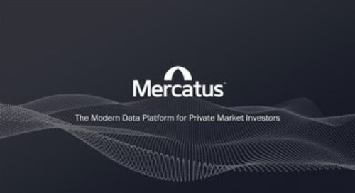 Mercatus ESG Presentation | The Modern Data Platform for Private Market Investors.