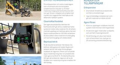 Trimble Earthworks GO! Datasheet - Swedish