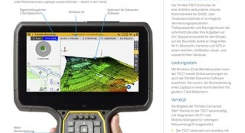 Trimble TSC7 Controller Datasheet - German