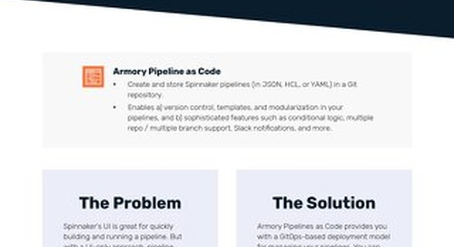 Armory Pipelines as Code Feature