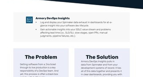 Armory DevOps Insights Feature