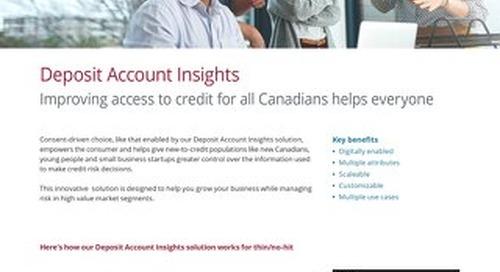 Deposit Account Insights