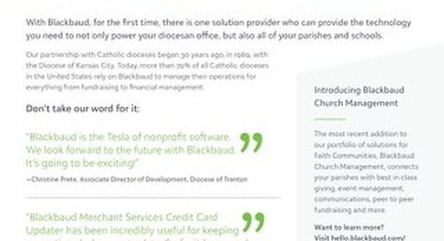 Blackbaud's Portfolio for Catholic Dioceses