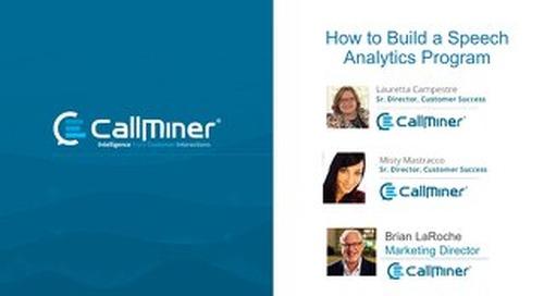 How to Build a Speech Analytics Program
