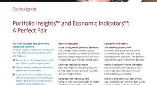Portfolio Insights & Economic Indicators Bundled Product Sheet