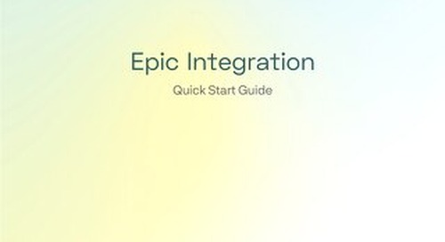 Epic Integration Quick Start Guide