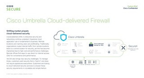 Cisco Umbrella Cloud-Delivered Firewall
