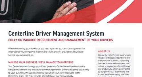 [Data Sheet] Driver Management Services