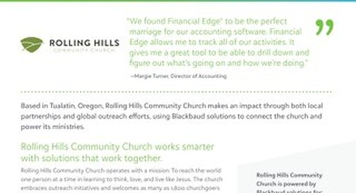 Rolling Hills Community Church Customer Story