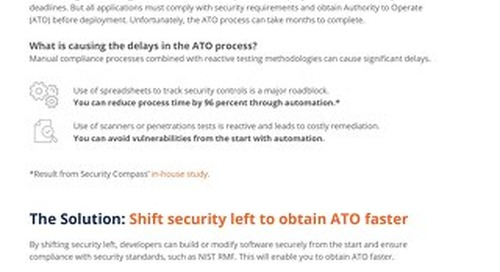 SD Elements Enables ATO for U.S. Federal Government Agencies