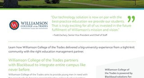 [Customer Story] Williamson College of the Trades