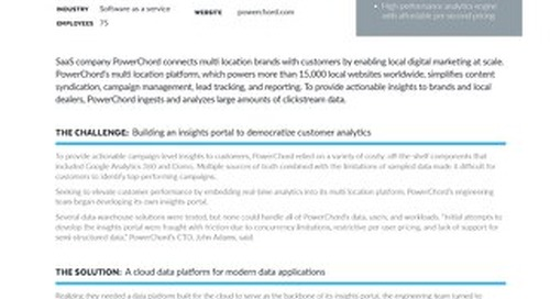 PowerChord: SaaS Company Boosts Customer Performance Data at a 50% Lower Price Point