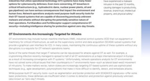 Fortinet Provides Zero-day Protection in OT Environments