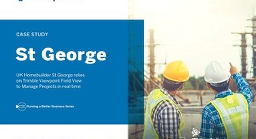 St George Homes Manages Projects in Real Time with Field View