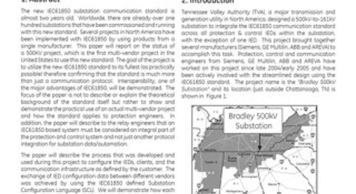 Case Study: First IEC 61850 Based Protection and Control, Multi-Vendor Project in the US