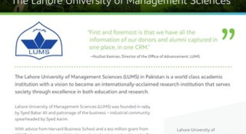 Customer Spotlight: The Lahore University of Management Sciences (LUMS)