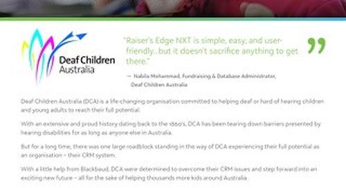 Customer Spotlight: Deaf Children Australia