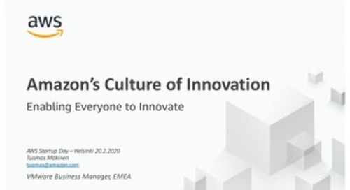 Culture of Innovation - Startup Day Helsinki