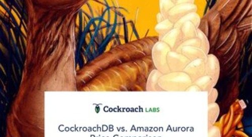 CockroachDB vs Amazon Aurora Price Comparison