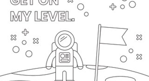 Get On My Level - Coloring Page