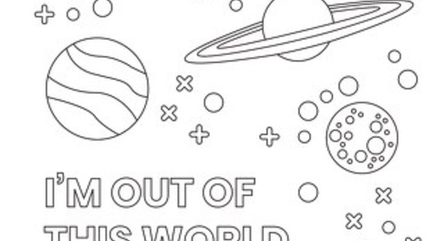 Out Of This World - Coloring Page