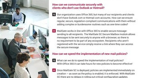 10 most asked questions about secure email collaboration with MS Office 365