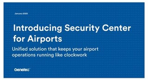 Security Center for airports presentation