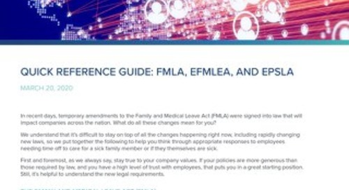 FMLA Amendments Quick Reference Sheet