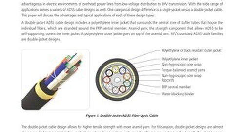 Single-Jacket vs. Double-Jacket ADSS Fiber Optic Cable