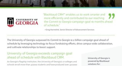 Customer Story:  University of Georgia