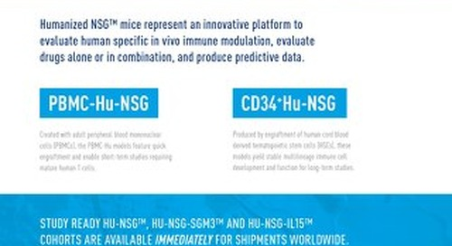 Humanized NSG and NSG-SGM3 Mouse Models