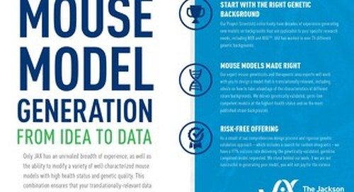 Mouse Model Generation: From Idea to Data